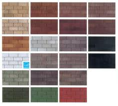 A few styles and colors of composition shingles that you can choose from.